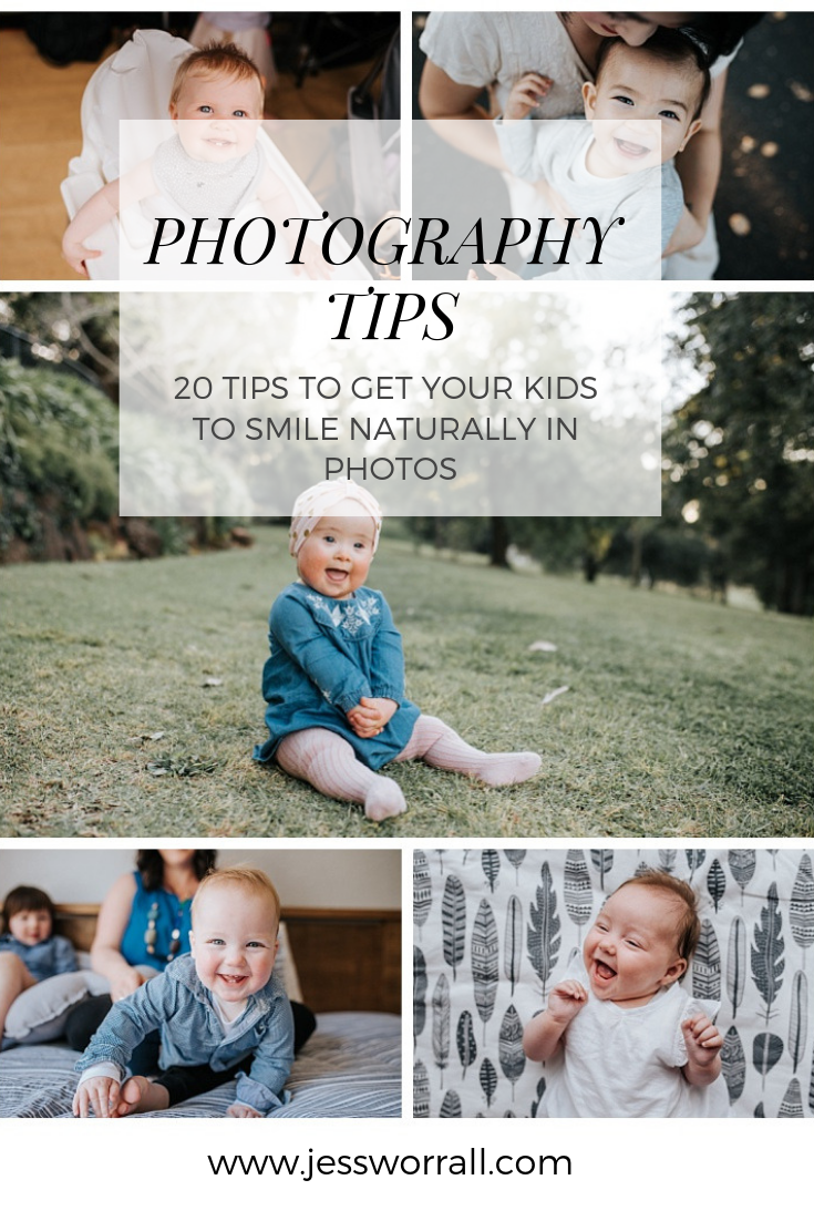 photography tutorial – 20 tips to help you get more natural smiles when photographing your kids