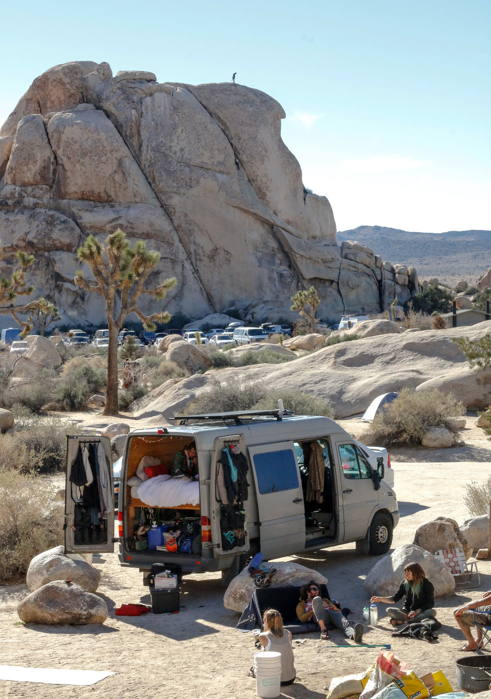 One Chick Travels Joshua Tree Intersection Rock