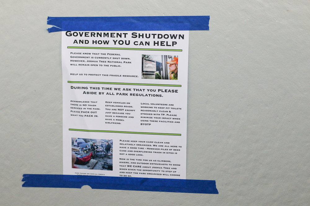 Government Shutdown and how you can help!