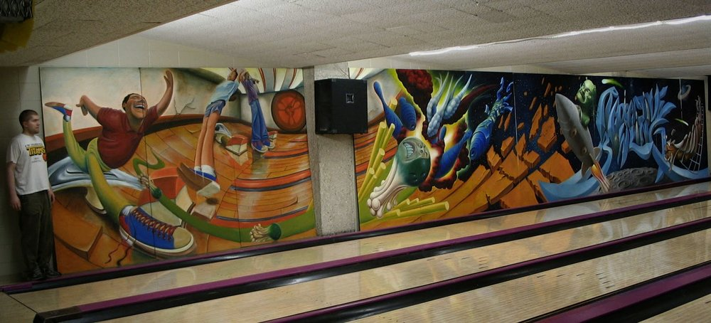 bowling mural painting