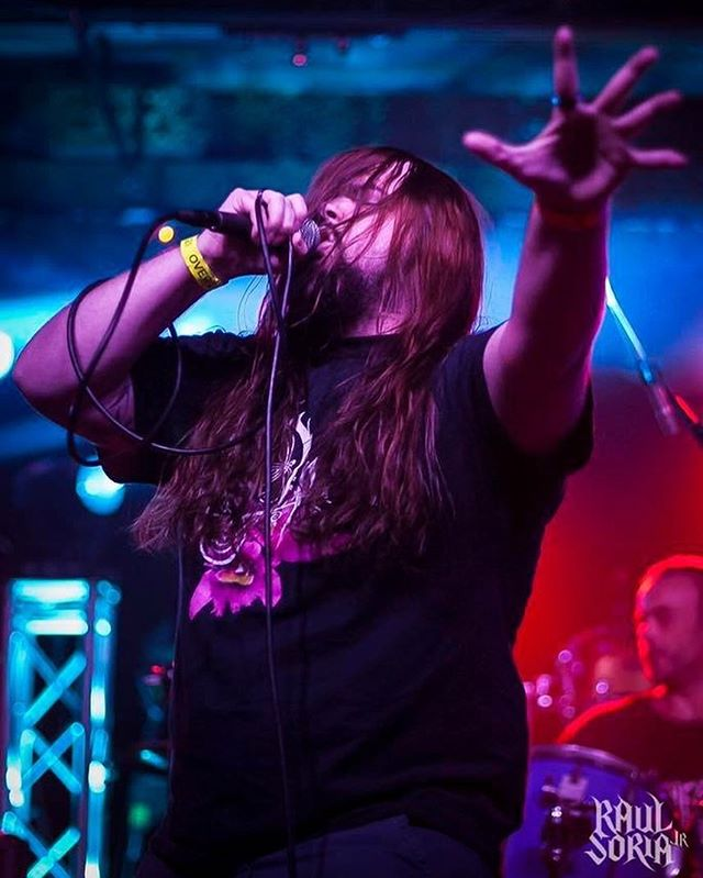 A big happy birthday to our very own vocal shredder!  #vokills #metal #concertphotography #shoottokill #blackmetal #deathmetal #hawaiianmetal #vocals #vocalist #aphesis
