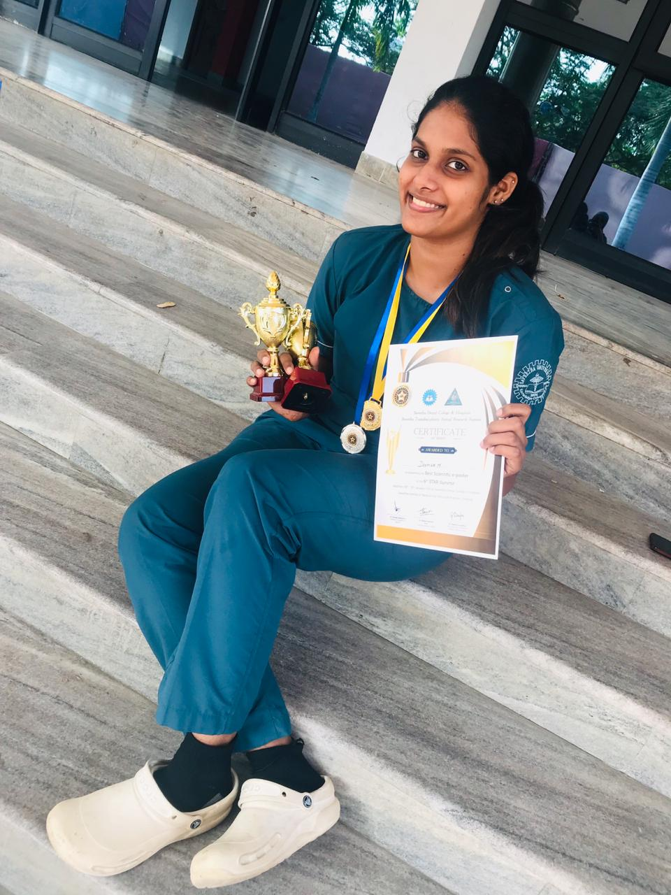 Best PG Poster Award (STAR SUMMIT 2019) - Post graduate student Dr. Deepiga getting the 'Best Poster Award' for presenting poster in the STAR SUMMIT 2019