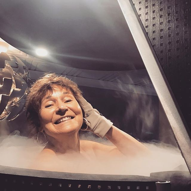 5 days into her #realfeeldeal and this little firecracker is feeling fabulous! Looking gorgeous Wendy! #cryoisforeveryone #recoverywithbenefits