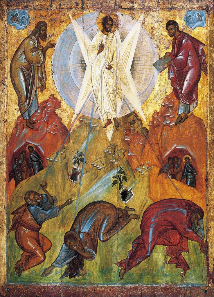 Transfiguration icon attributed to Theophanes the Greek, via Wikimedia Commons