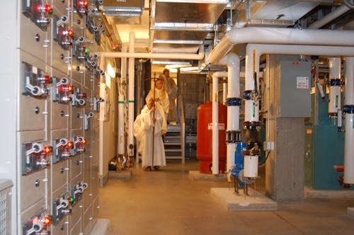 Val Notre-Dame - Blessing of the Mechanical Room !!photo from the Abbey website