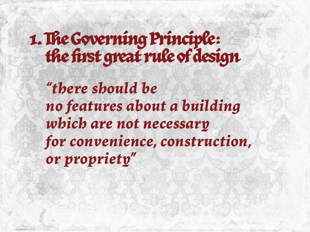 Principle #1