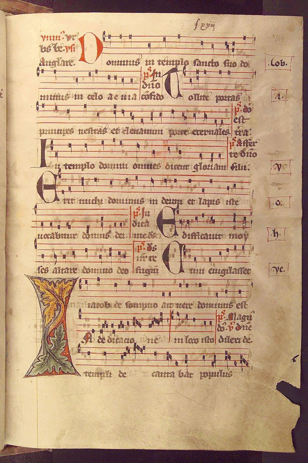 Antiphonarium Benedictinum Pars aestiva. (1400)