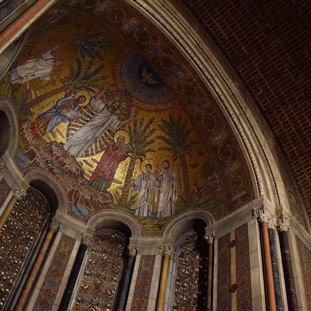 Transfiguration apse mosaic, St Bartholomew