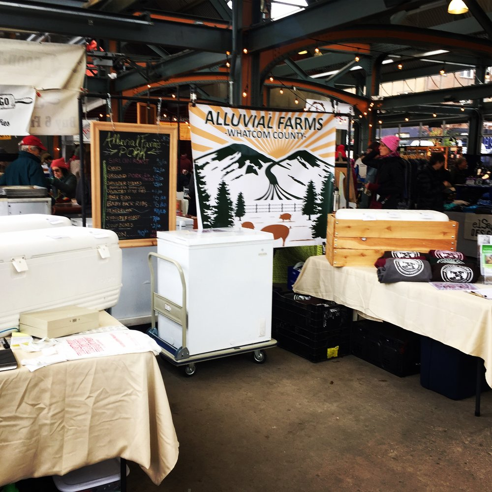 Alluvial Farms pastured pork in your freezer and in your belly. Next Bellingham winter farmers market coming up Saturday February 17 from 10 a.m. to 3 p.m.