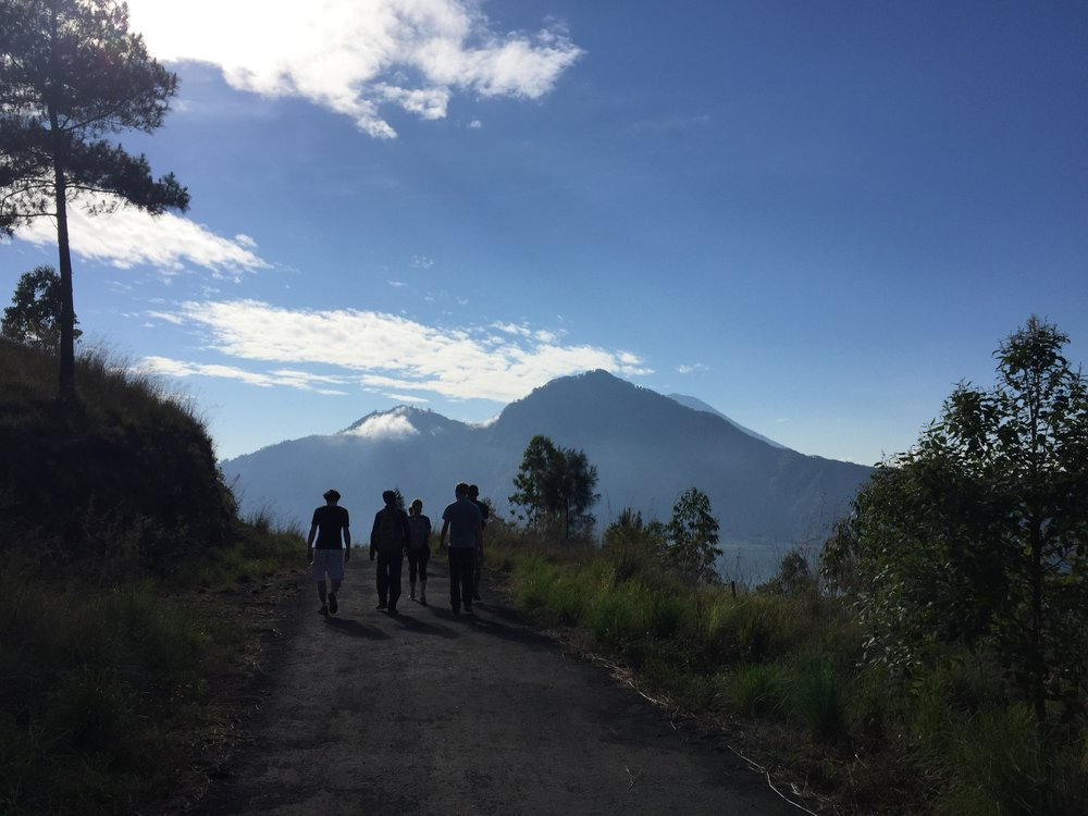 Heading down Mt. Batur in Bali after a 1am sunrise hike.