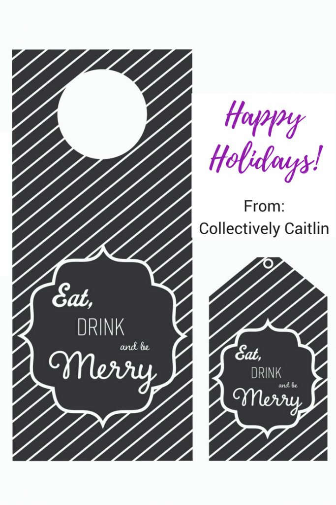 Printable Holiday Wine Tags - Collectively Caitlin - Productivity Coach for Creative Entrepreneurs - Business Coach