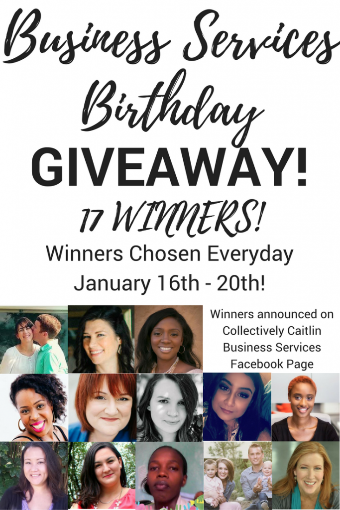 Collectively Caitlin Business Services Birthday Giveaway - Business Coach For Creative Entrepreneurs