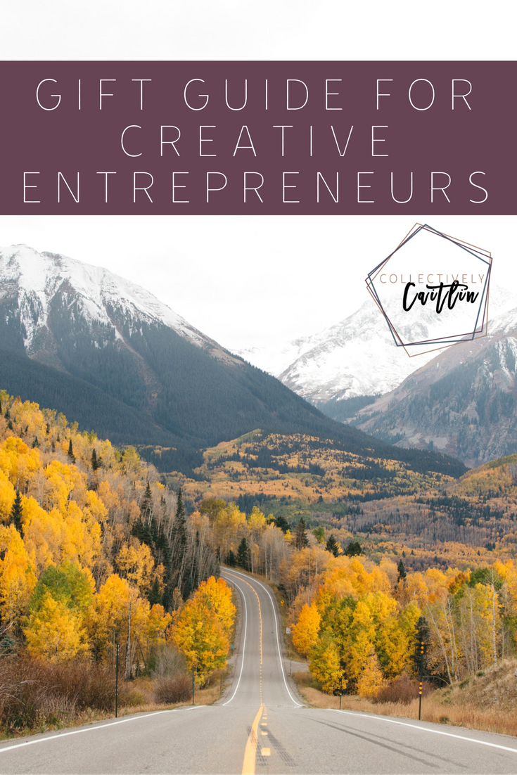 Gift Guide For The Creative Entrepreneur - Collectively Caitlin - Shopping Guide - Holiday Guide - Shopping List - Business Coach For Creative Entrepreneur