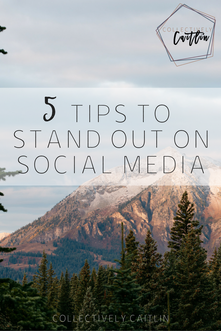 Tips To Stand Out On Social Media - Collectively Caitlin - Tuesday's Together