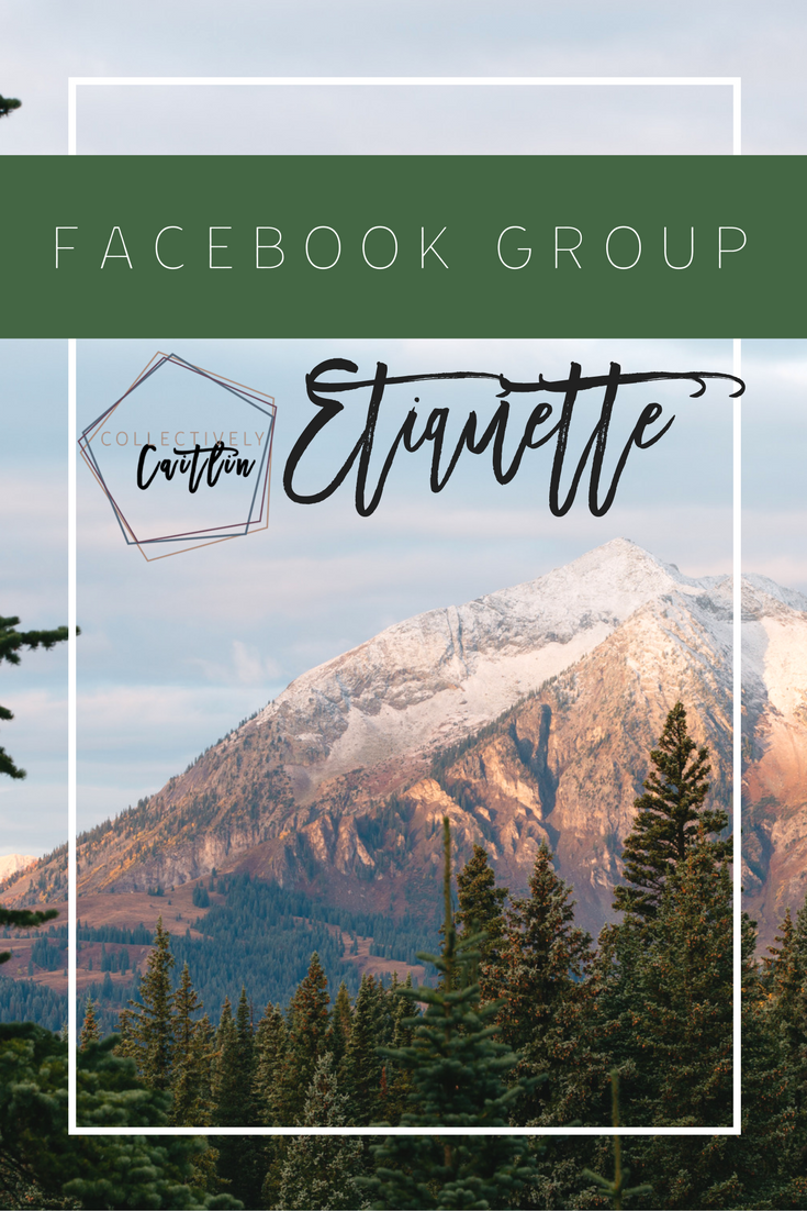 Facebook Group Etiquette - Business Coach For Creative Entrepreneurs - Collectively Caitlin