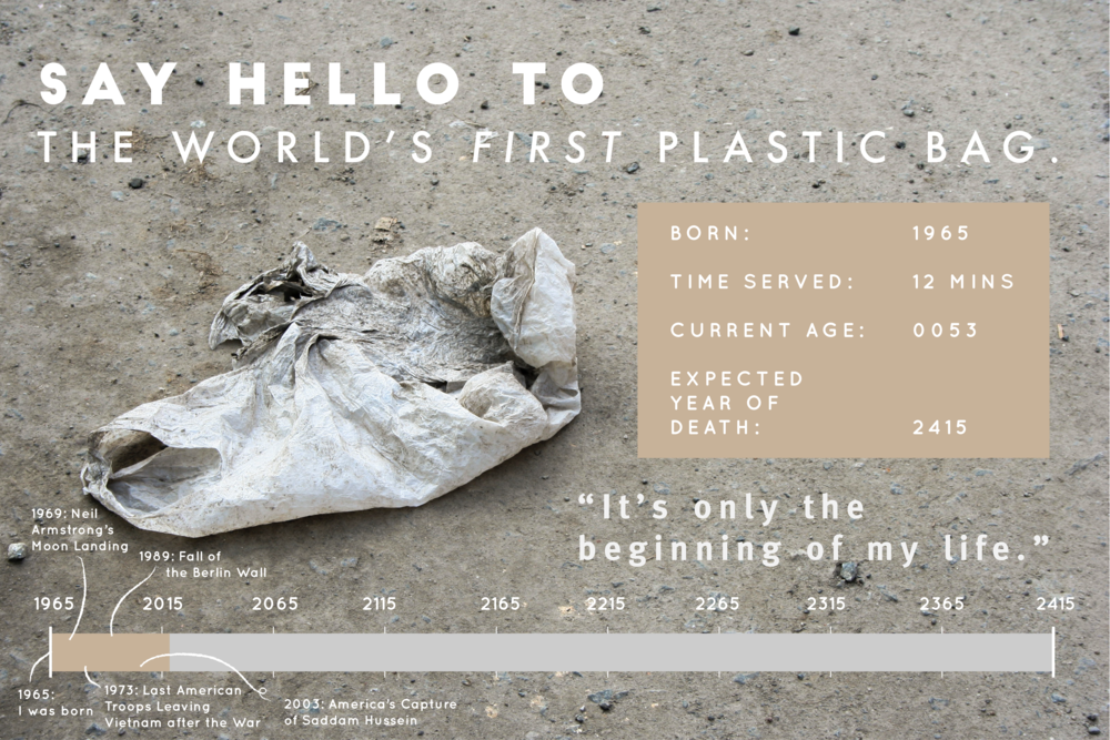 Say Hello to the World's First Plastic Bag. Visual Credit: Carina Lim
