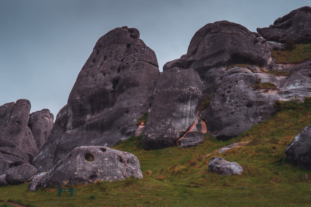 Castle Hill - Limestone rock formations that resemble an old, run-down stone castle. My first unplanned stop for the journey.