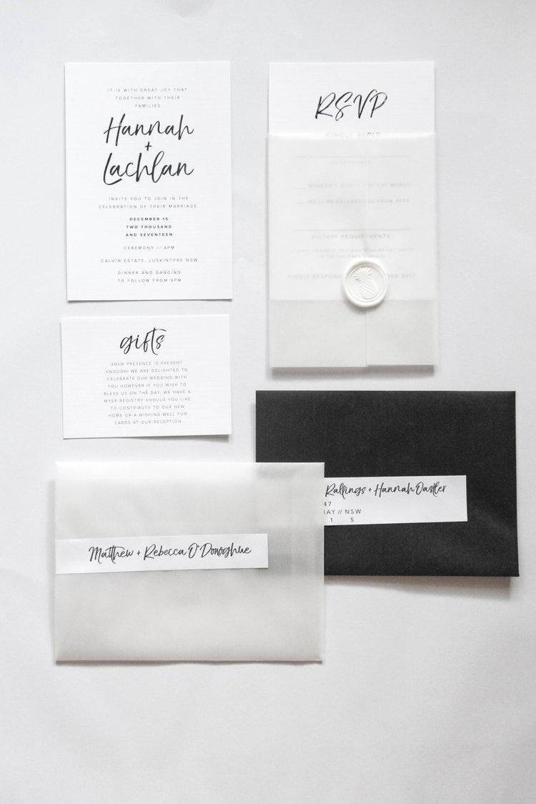 Modern Wedding Invitations Rebecca Lee Creative