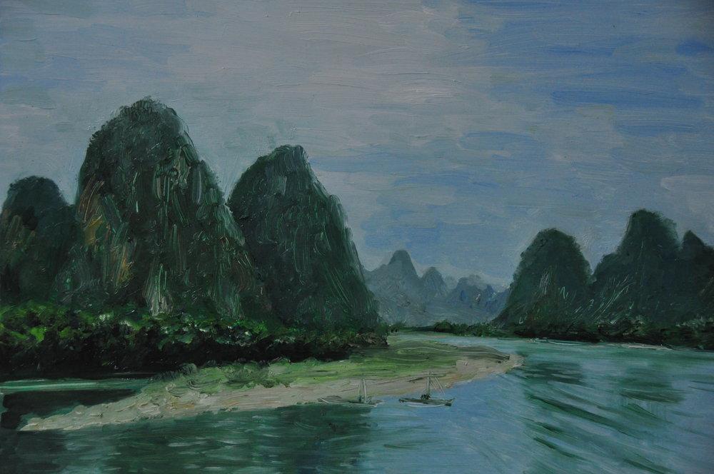 Cruising on Li River