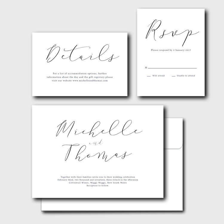 Classic Calligraphy Suite Brooke Zotti Designs