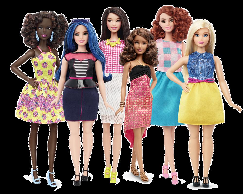 Yepyeni, birbirinden güzel Barbie bebekler.