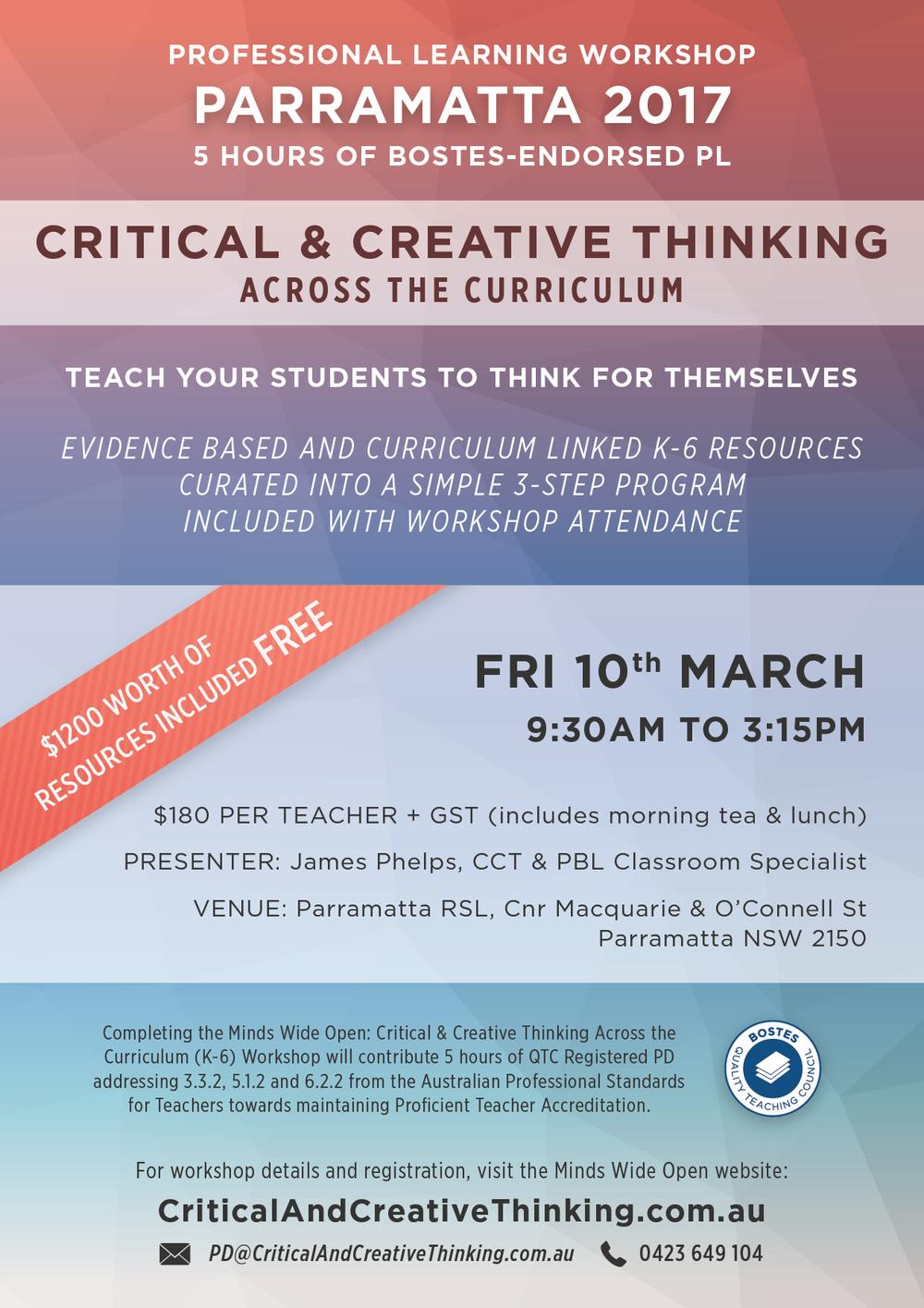 CCT Parramatta Workshop Flyer