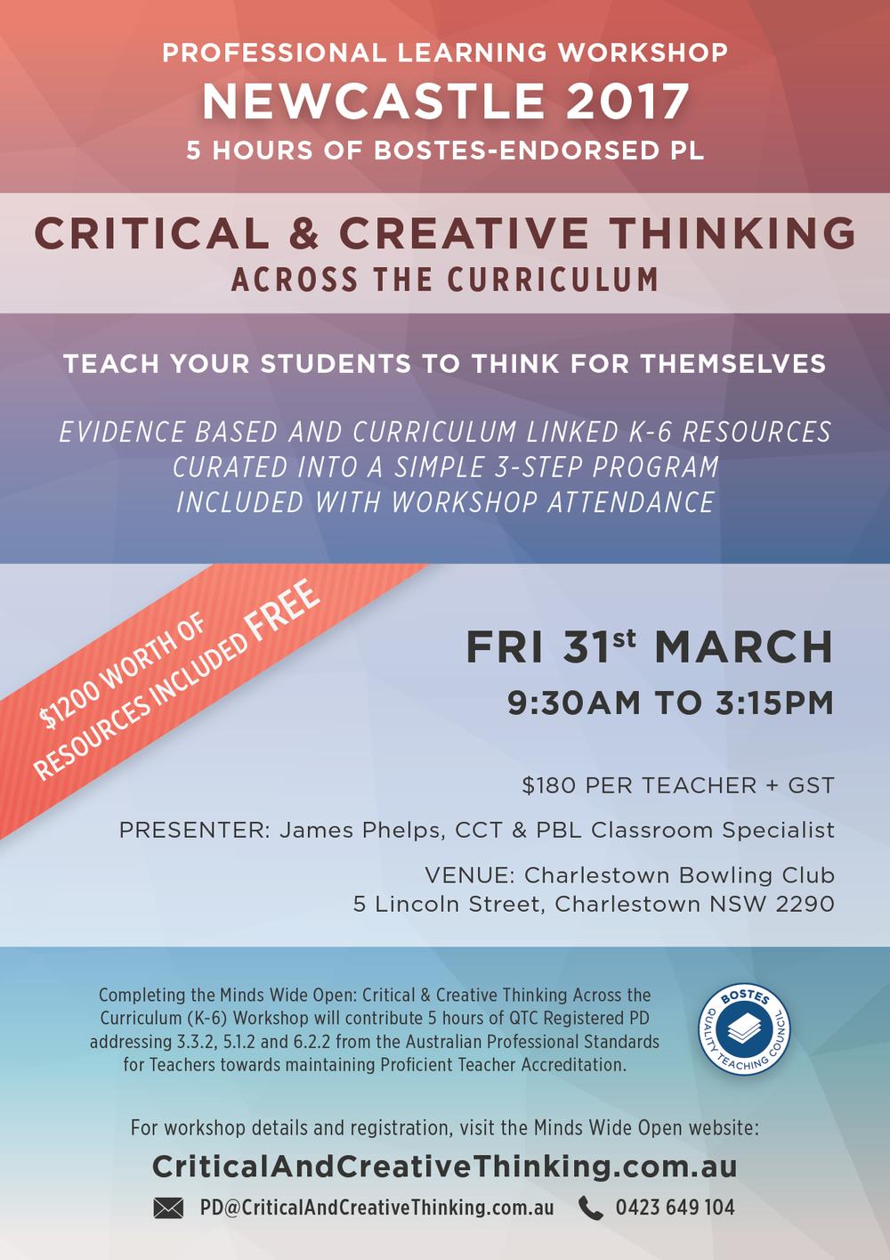 Newcastle CCT Workshop Flyer