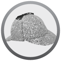 1 black and white coloured thinking cap