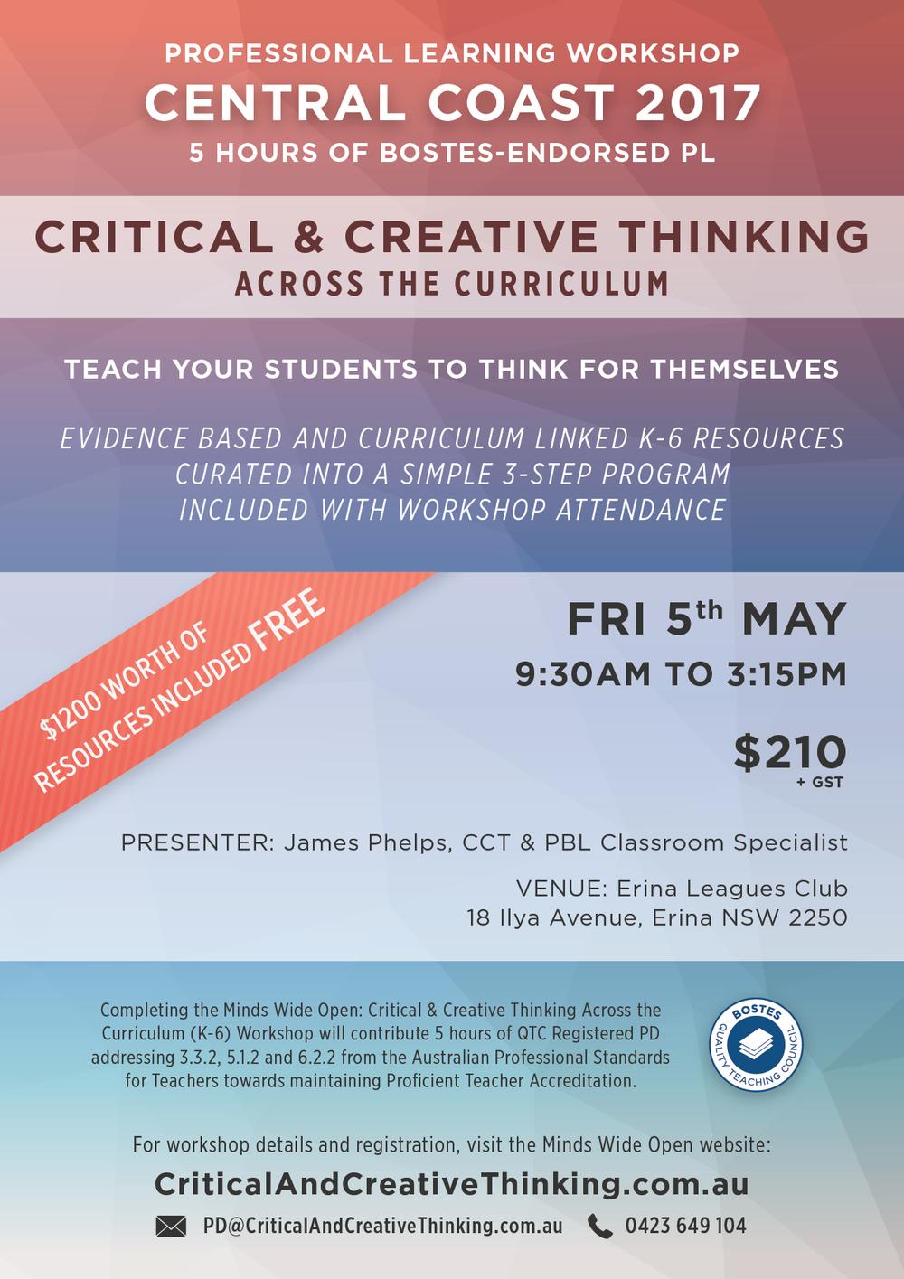 Central Coast CCT Workshop Flyer