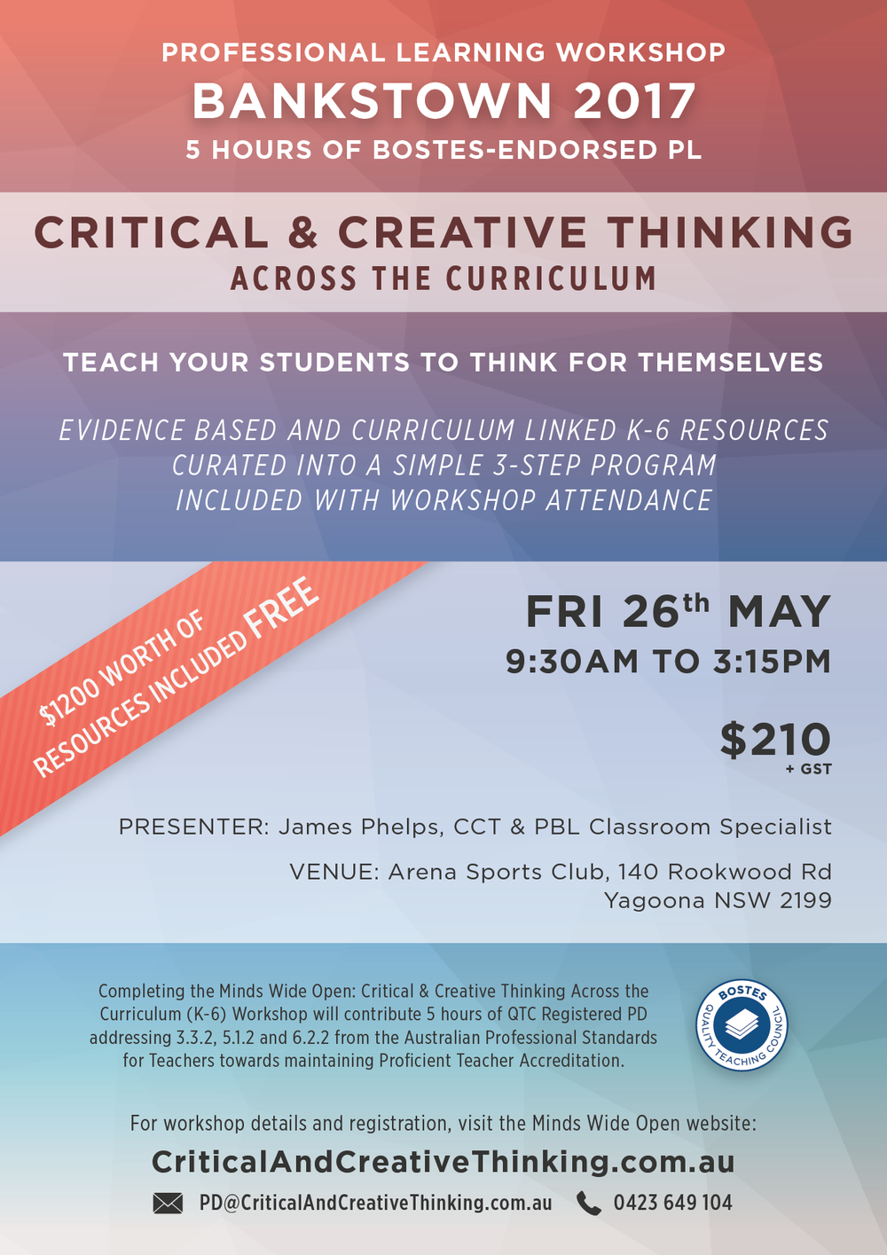 Bankstown CCT Workshop Flyer