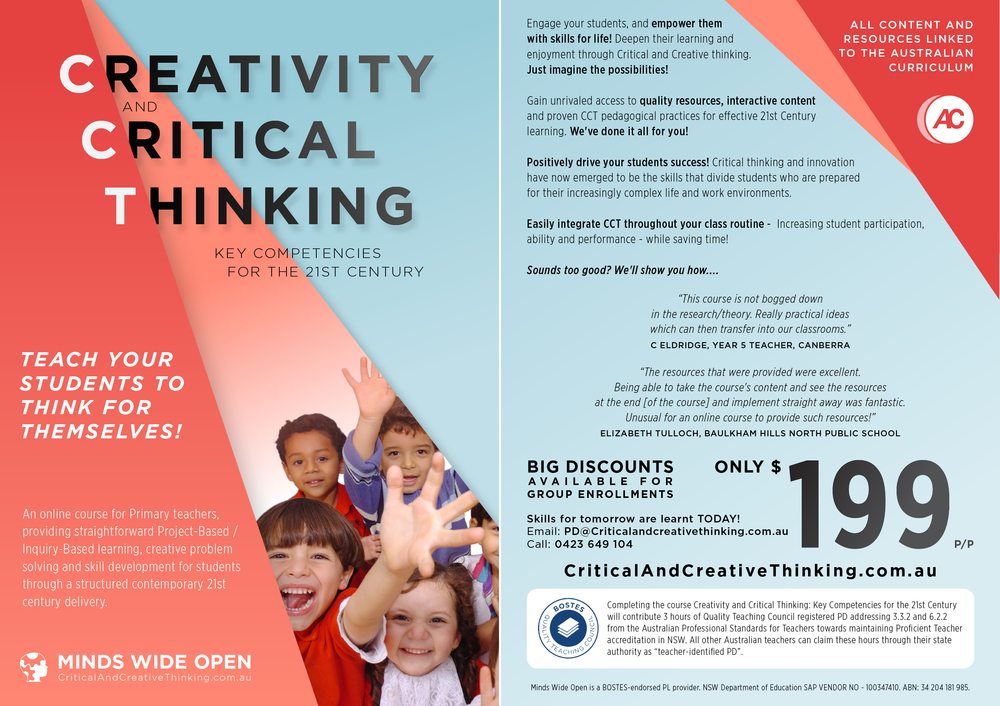 Critical and creative thinking online course Australia