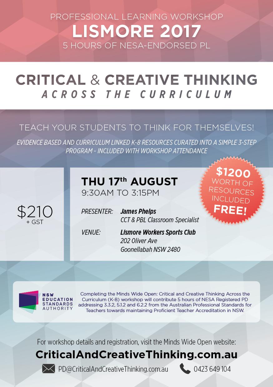 Lismore CCT Workshop Flyer