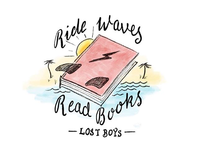 We like to live a pretty simple life over here. Ride waves, read books ⚡️ . . #lostboysbookclub #ridewavesreadbooks #simplelife #bookclub
