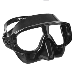Salvimar Flyud Apnea100 @ S$60   Identical to Aqualung Sphera, wide and soft skirting. Plastic lens that moulds to your face at depth. Extremely low volume fantastic for depth. Popular model. Asian & European fit.