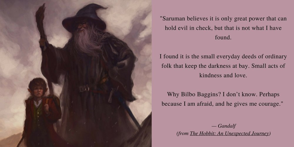 Art ('Over Hill - Bilbo and Gandalf') by Joel Lee     Used under Creative Commons Attribution-Share Alike 4.0 International license.