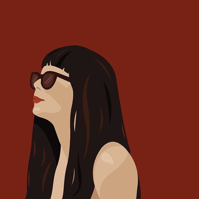 Sunbathe portrait. . #worldwideillustration #illustrationdaily #illustration #illustrator #polishillustrator #furrylittlepeach @furrylittlepeach #digitalart #vectorart #vector #dailyillustration #computerart #portrait #pretty #woman #beauty #beautifulwoman #feminine