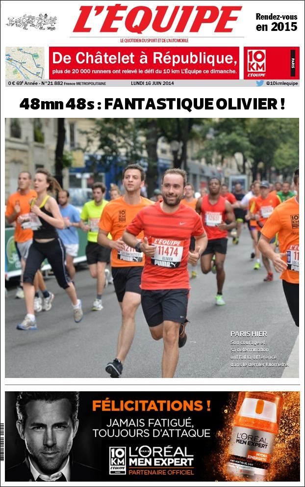 Runner. Semi marathon (1h47), 10Km (43m)