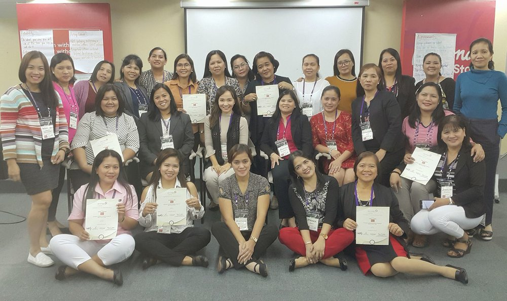 Batch 2 of Trainees from National Bookstore, the Philippines' leading book store / May 2017.