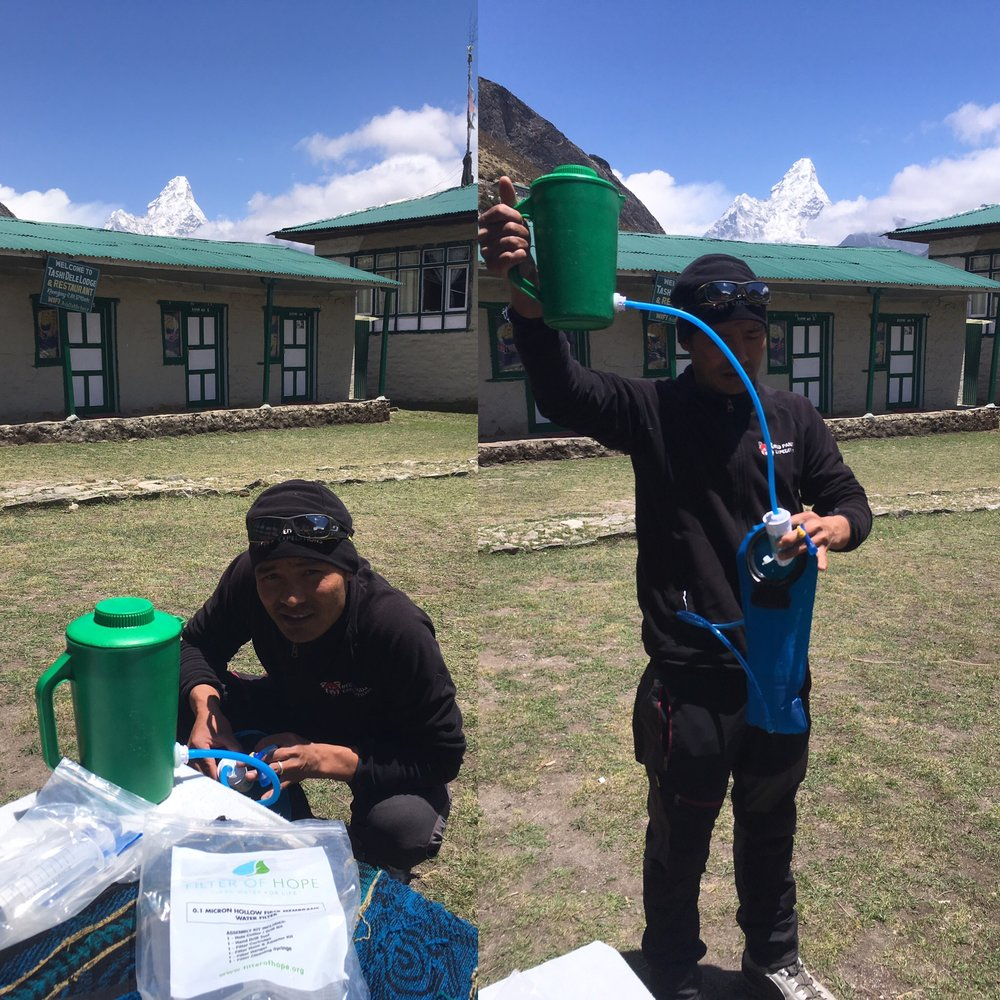 Giving some filters in Khumbu region in 2016