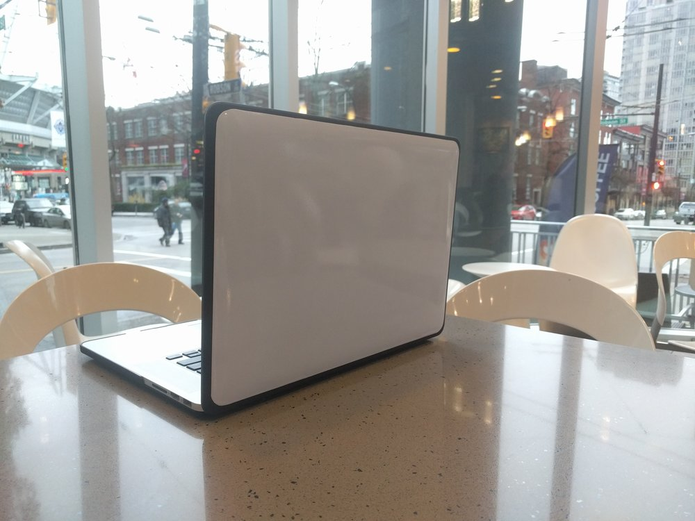 Whiteboard sticker for your laptop