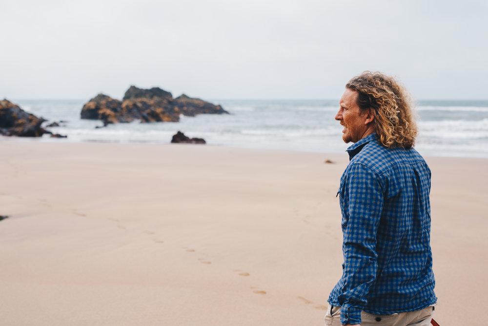 TV cook Martin Dorey strolling the coast