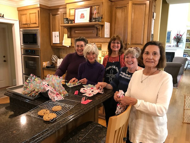 Left to right: Carol McRee, Kay Randolph, Kathy House, Andrea Kelly, Kitty Cutler: not pictured Mary Jo Wiseburn, Anjenette Milligan