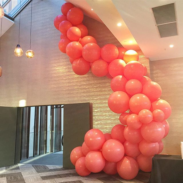 Obsessed with this massive coral installation that we did for the @meccacosmetica mid-year conference during the week. #TheBurstCo