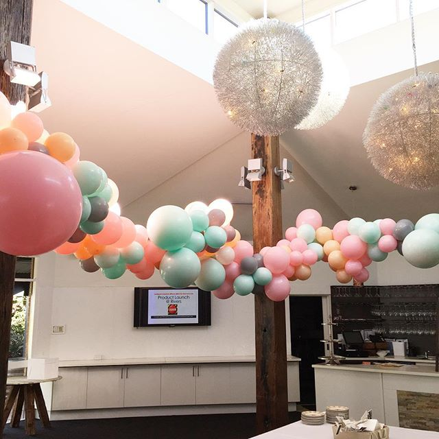 High ceilings and custom colours 🙌🏼. One our faves from this weekend 🎈 #TheBurstCo