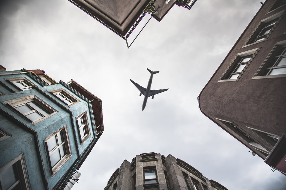 Could you catch a plane in between the buildings, like a pro instagramer?=)