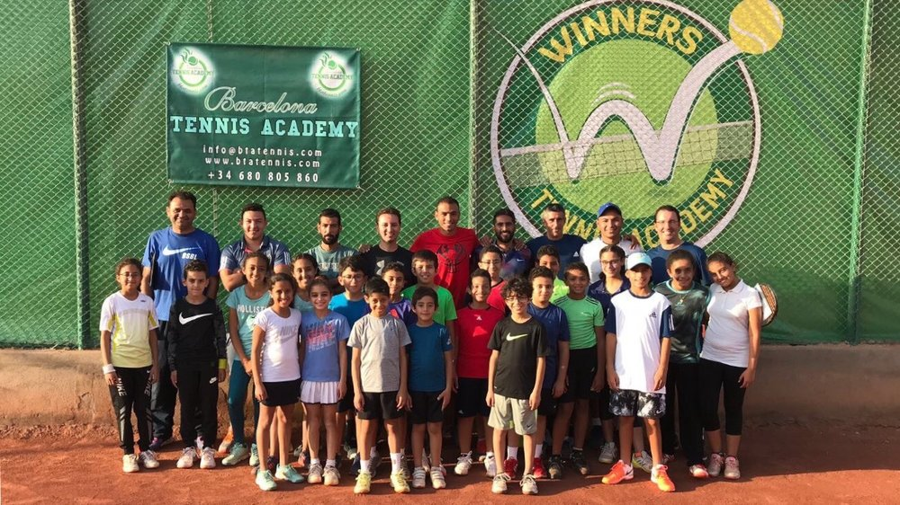 In December, our director Raphael and one of our tennis coaches Sixto ran a one-week camp at the Winners Tennis Academy in Cairo.