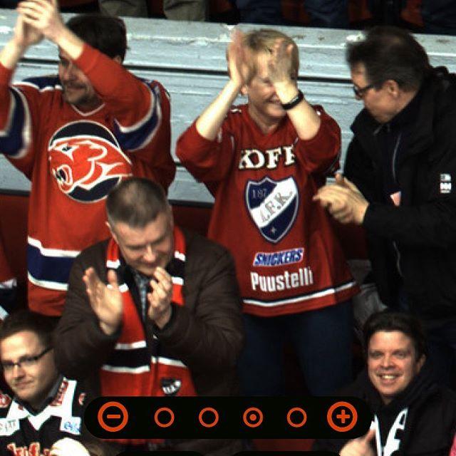 Toistaiseksi Game6 hymyilyttää, miten käy? #liiga #playoffs #hifk #tps #gameface #uberclick
