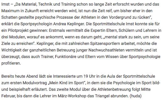 Printausgabe der Tiroler Tageszeitung vom Fr, 06.02.2015