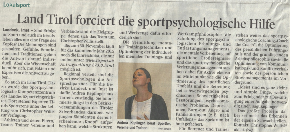 Tiroler Tageszeitung Nummer 276- IM -07. Oktober 2014