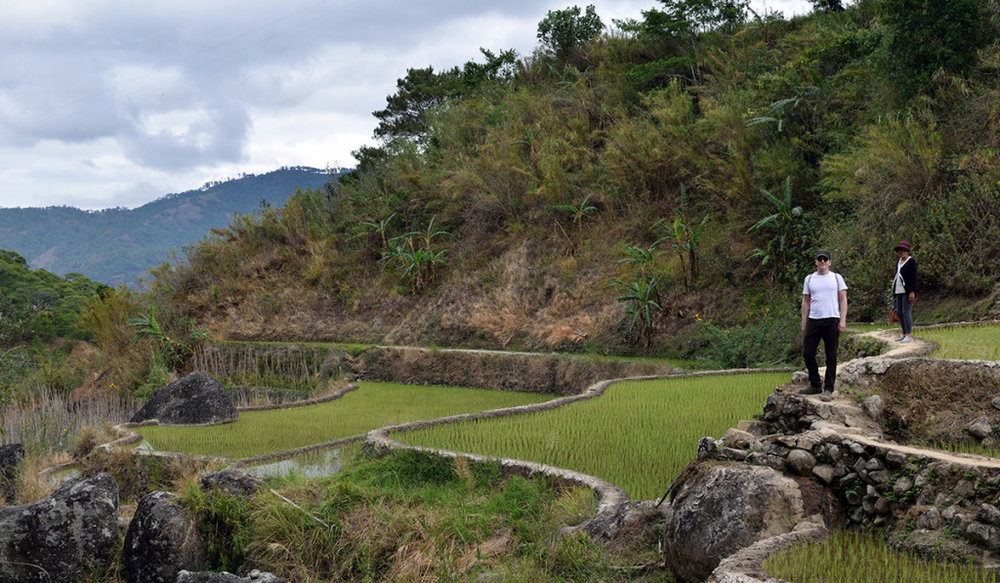 Evan, exploring the rice terraces of Mt. Province